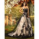 Lanting Bride® Aライン / プリンセス 小柄 ウェディングドレス コートトレーン ストラップレス レース / チュール とともに