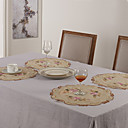 """11 """"x17"""" Modern Style Poly Beige Placemats"""