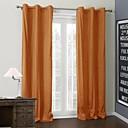 二つのパネルtwopages®固体明るいオレンジ色のコーティングの熱カーテン