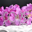 Figure za torte Non-personalizirane Jastuk Vjenčanje / Godišnjica Umjetno drago kamenje Pink OPP