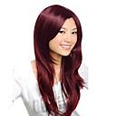 キャップレスの高品質の合成ショートストレート茶美しい髪かつら