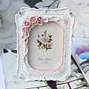Květinový motiv Pryskyřice fotorámečky Růžová / Bílá