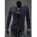RR KUPITI Muškarci Cyan Pocket Dizajn jedan gumb Krojač Collar jakna
