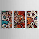 Ručně malované Abstraktní Tři panely Plátno Hang-malované olejomalba For Home dekorace
