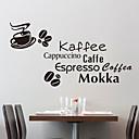 Slova druhy kávy Samolepky na stěnu