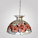 80W chic Tiffany privjesak svjetla sa šarenim materijalne prirode ljuske integrirani nijansu dolje u kruni lice