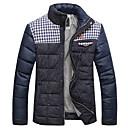 Honuprメンズファッションスタンドカラースプライシングパッドコート