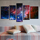 5個セットキャンバスプリントアート抽象銀河