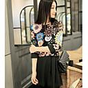 Fashiongirl Ženska Cut Out Vintage srastanje boja tamnoplava haljina