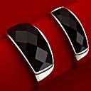 z&x® Unisex je berba crnog ahata par prstena (2 kom)