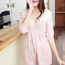 フォリフォリ韓国編みの襟七分袖スプライシングニットシャツ