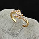 Yueli Dámské 18K Gold Zirkon prsten J0512