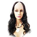 18inch Tělo Wave Střední část indické Remy vlasy U Část paruka