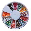 120PCS Mješoviti uzorak Šarene Cartoon životinja Fimo Slice životinja Nail Art dekoracija