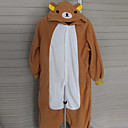 Kigurumi Pyžama Medvěd Leotard/Kostýmový overal Festival/Svátek Animal Sleepwear Halloween Žlutá Patchwork polar fleece Kigurumi Pro
