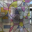 Geometrijski oblici Klasičan stil Film za prozor,PVC/Vinil Materijal prozor dekoracija