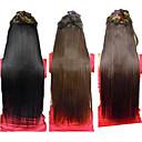 25 inčni Clip u sintetičkim ravnu kosu Extensions s 5-isječci (Izabrane 3 boje)