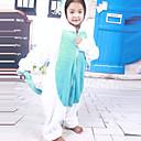 着ぐるみ パジャマ Unicorn レオタード/着ぐるみ イベント/ホリデー 動物パジャマ Halloween ホワイト / ブルー パッチワーク フランネル きぐるみ のために 子供用 ハロウィーン
