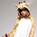 Kigurumi Pyžama Žirafa Leotard/Kostýmový overal Festival/Svátek Animal Sleepwear Halloween Bílá / Žlutá Patchwork Coral Fleece Kigurumi