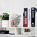 Moderní bílá barokní vzor Desktop Book Shelf