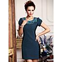 Duolabana Vintage Čipka šivanje Slim čipkastu haljinu