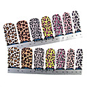 28PCS Full-tip Leopard Print Nail Art samolepky Obtisky