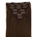 人間の人間の髪の毛の拡張子ストレート複数の色で28インチ7PCS 120グラムクリップ利用可能q28120