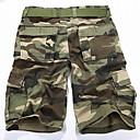 kamuflaža Muška Kratke hlače Ležerne prilike,Pamuk Zelena / Siva