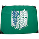 More Accessories Inspirirana Napad na Titanu Cosplay Anime Cosplay Pribor Zastava Zelena Polyester Male