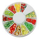 12-Color Voće dizajn Polymer Nail Art dekoracija