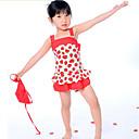 女の子のイチゴプリント水着
