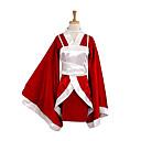 Inspirirana LOL Akari Video igra Cosplay nošnje Cosplay Suits / Kimono Kolaž Crvena Dugi rukav Kimono Dlaka / Maja