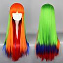 Harajuku stil Cosplay Sintetička perika Lolita Long Ravno Wig Mješoviti Boja