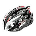 FJQXZ一体成形EPS + PC紅白サイクリングヘルメット(21ベント)