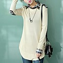 Lady Loose Casual ovratnik košulje Knit Sweater Pullover