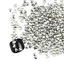 3D 300ks Silver Love-srdce Alloy Nail Art Golden & Silver dekorace