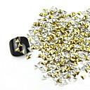 300ks 3D Golden Triangle Alloy Nail Art Zlaté a stříbrné ozdoby