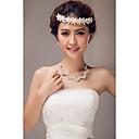 成人用 人造真珠 かぶと-結婚式 パーティー ヘッドバンド コサージュ ヘッドチェーン