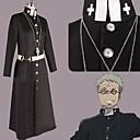 Inspirovaný Blue Exorcist Shiro Fujimoto Anime Cosplay Kostýmy Cosplay šaty Patchwork Czarny Dlouhé rukávy Přehoz / Kabát / Pásek