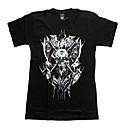 3D Muška kratkih rukava Fluorescenceprints 3D rock Lubanja Pattern Cotton T Shirt