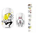 28PCS Funny Cartoon design Nail Art Samolepky