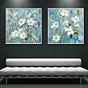 Květiny a rostliny Kanvas v rámu / Set v rámu Wall Art,PVC Bílá Bez pasparty s rámem Wall Art