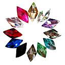24ks Mixs Color Glitter Rhombus drahokamu Nail Art Dekorace