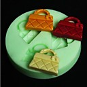 kabelka ve tvaru péct fondant bábovka, l6.5cm * w6.5m * h0.8cm