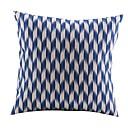 Moderan Geometrijski Blue Pamuk / Posteljina Dekorativni jastuk Cover