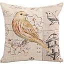"Createforlife ® 18 ""x 18"" Trg Vintage Yellow Bird Birdcage Pamuk / Posteljina Dekorativni jastuk"