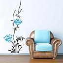 Createforlife ® Modré květinové keře pro děti Mateřské pokoje Nástěnné samolepky Wall umění lepicí obrazy na stěnu