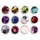 12 boja glitter romb šljokice nail art ukrasa (random color)
