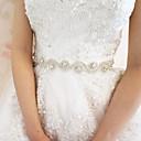 サテン ウェディング / パーティー/フォーマル サッシュ-ラインストーン 女性 ホワイト 200cm ラインストーン