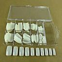 10x10pcs mixs veličina prirodno pune nail art savjeti